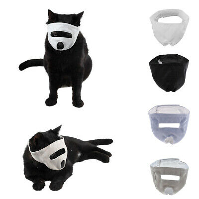Fashion Cat Muzzle for Grooming Adjustable Mesh No Bite Calm Mask Muzzle