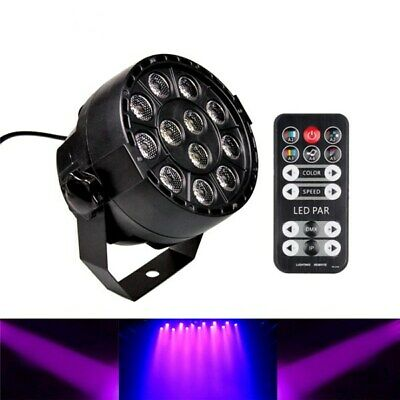 12W 12PCS LED UV Black Lights DMX512 Sound&IR-Remote Control Stage Light for