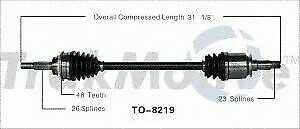 TrakMotive TO8219 Axle Shaft Assy- CV Shaft