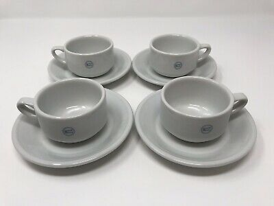 BIA Solid White Porcelain Tea Cup & Saucer Le Tour De France