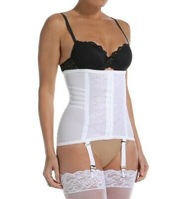6e93bc6845f NEW WITH TAGS   Rago Waist Cincher White Garter Belt Large 30 Getting  married