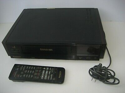 Vintage 1989 Panasonic PV-4924 VCR with Original Remote Control Made In Japan