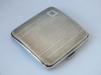 Art Deco Solid Sterling Silver Cigarette Case 1929/ L 8 cm/ 92 g