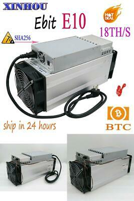 Used BTC BCH Miner Ebit E10 18T SHA256 Asic With PSU bitcoin mining Better Than