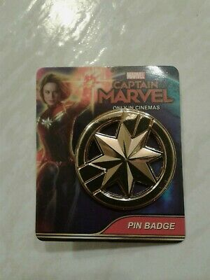 CAPTAIN MARVEL movie - PIN BADGE! 2019 Official PROMO Marvel RDP - NEW!