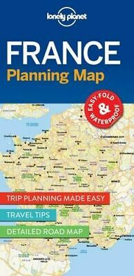NEW France Planning Map By Lonely Planet Folded Sheet Map Free Shipping