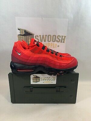 online store fc52a ffa74 Nike AIR MAX 95 OG Shoes Habanero Red White University Red AT2865-600