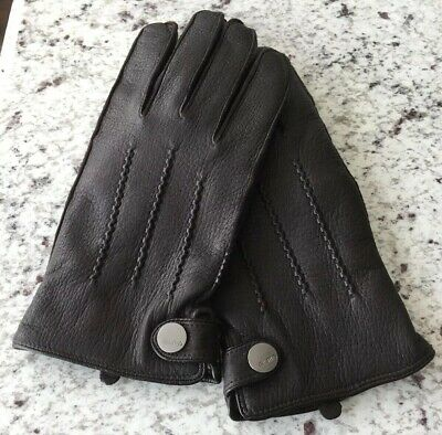 207c638f21923 COACH 82863 MEN'S Nappa Leather Basic Winter Driving Gloves ...