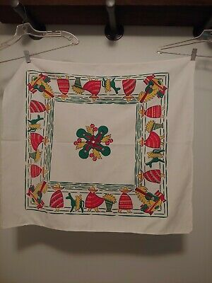 Vintage Kitchen Towel Tablecloth 1950s Cotton Mexican Themed Startex Mills