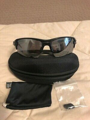 8ca8daac67 OAKLEY FLAK 2.0 Sunglasses Polished Black w Blue Sapphire Iridium ...