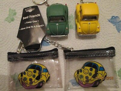 Vw Volkswagen Key Chains Bugs with Vintage Purses  1/64  #8