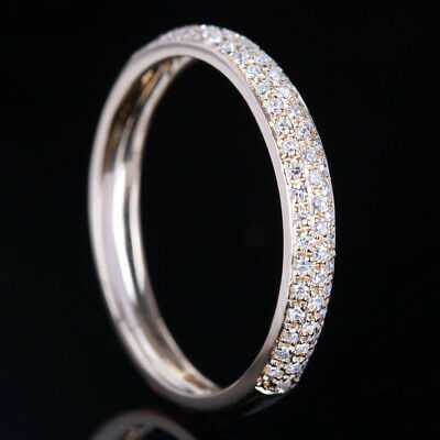 Solid 14k Yellow Gold Natural SI/H Diamonds Band Wedding Ring Setting Engagement