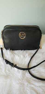 103e8cd274df16 NEW MICHAEL KORS Fulton EW Crossbody In Pebble Leather Or PVC NWT ...