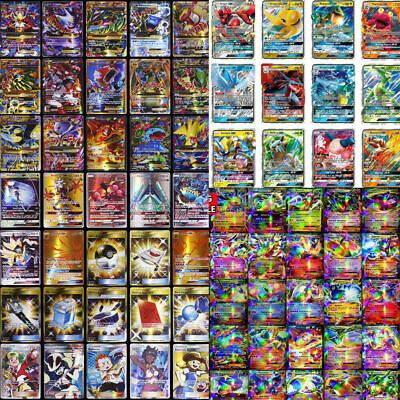 60/100/200 PCS GX EX MEGA Energy Pokemon Cards Bundle Holo Trading Flash Card