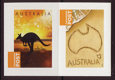 Australia 2014 Concession Stamps Pair Unmounted Mint