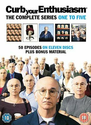 Curb Your Enthusiasm : Complete HBO Seasons 1 To 5 Box Set [DVD] -  CD W4LN The