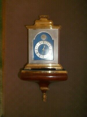 Thwaites And Reed Top Quality Small Silvered/Gilt Brass Bracket Clock & Bracket
