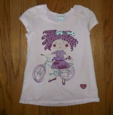 Girls Sz 5 Narrtjie Pink Jie Jie Bicycle Bike Top Shirt