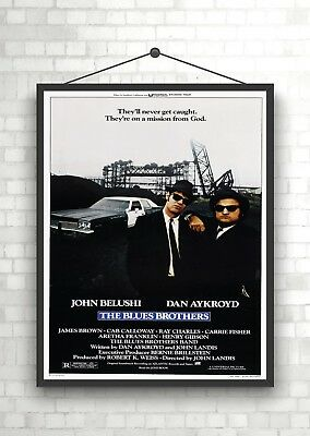 The Blues Brothers Classic Vintage Large Movie Poster Print A0 A1 A2 A3 A4 Maxi