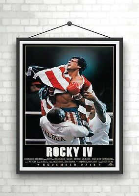 Rocky IV Vintage Classic Large Movie Poster Print A0 A1 A2 A3 A4 Maxi