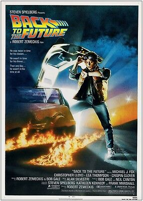 Back To The Future Vintage Classic Large Movie Poster Art Print A0 A1 A2 A3 A4