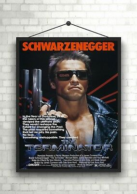 The Terminator Arnold Schwarzenegger Vintage Classic Movie Poster Art Print