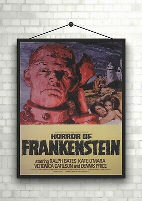 Horror Of Frankenstein Vintage Large Movie Poster Art Print A0 A1 A2 A3 A4 Maxi