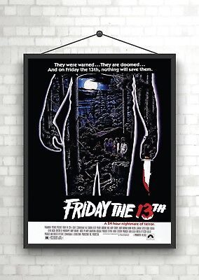 Friday The 13th Classic Vintage Large Movie Poster Print A0 A1 A2 A3 A4 Maxi