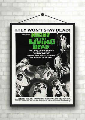 Night of The Living Dead Vintage Movie Poster Art Print Maxi A1 A2 A3 A4