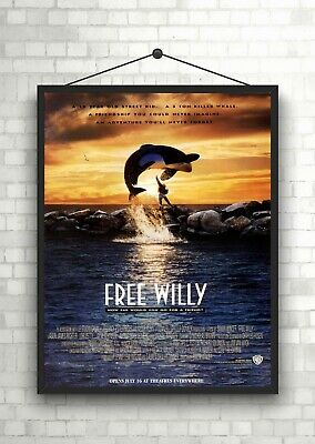 Free Willy Classic Movie Large Poster Art Print Maxi A1 A2 A3 A4