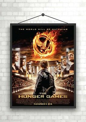 THE HUNGER GAMES CATCHING FIRE POSTER A4 A3 A2 A1 CINEMA FILM MOVIE LARGE FORMAT