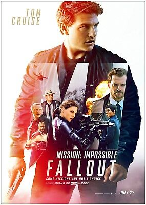 Mission Impossible Fallout Large Movie Poster Art Print A0 A1 A2 A3 A4 Maxi