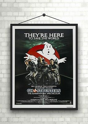 Ghost Busters Vintage Classic Movie Poster Art Print A0 A1 A2 A3 A4 Maxi