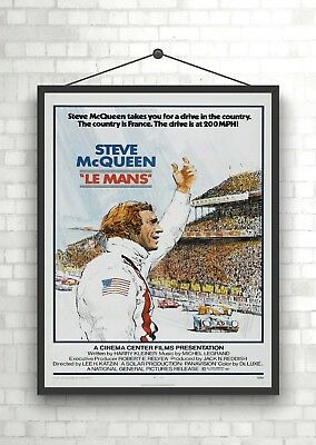 Steve McQueen Le Mans Vintage Giant CANVAS PRINT A0 A1 A2 A3 A4 Sizes