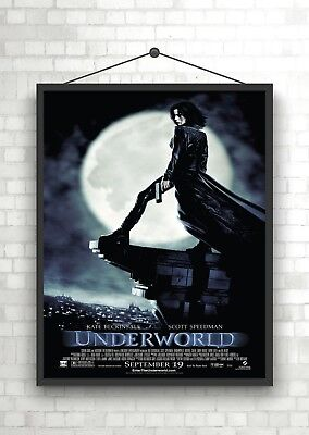 Underworld Kate Beckinsale Classic Movie Poster Print A0 A1 A2 A3 A4 Maxi