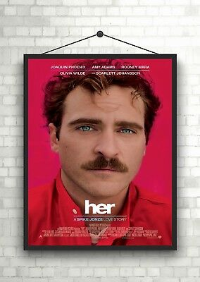 Her Joaquin Phoenix Classic Large Movie Poster Print A0 A1 A2 A3 A4 Maxi
