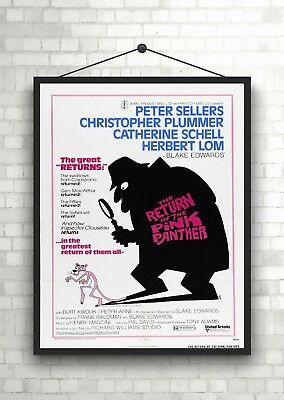 Return Of The Pink Panther Classic Vintage Large Movie Poster Art Print A0 A1 A2
