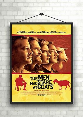 The Men Who Stare At Goats Classic Movie Poster Art Print A0 A1 A2 A3 A4 Maxi