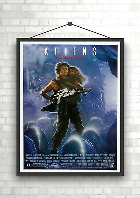 Aliens Vintage Classic Large Movie Poster Print A0 A1 A2 A3 A4 Maxi
