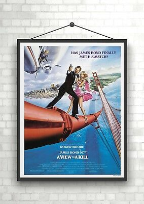 A View To A Kill James Bond 007 Vintage Classic Large Movie Poster Art Print