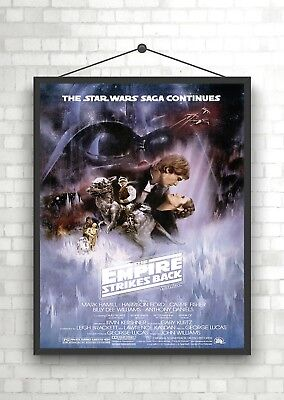 Star Wars The Empire Strikes Back Classic Vintage Large Movie Poster Print