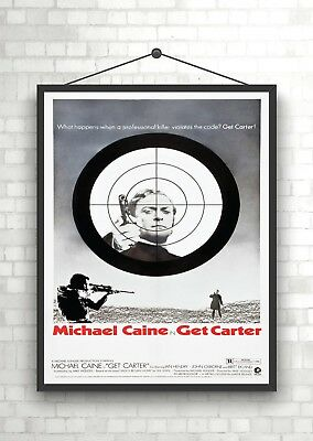A3 Get Carter Michael Caine Belgian Movie Film wall Home Posters Retro Art #10