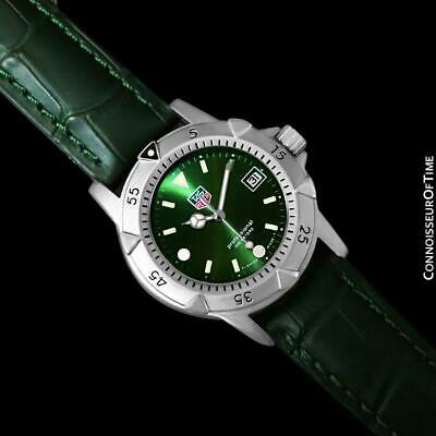 TAG HEUER PROFESSIONAL 1500 Mens Diver Green Dial Watch - SS Steel - 959.713G