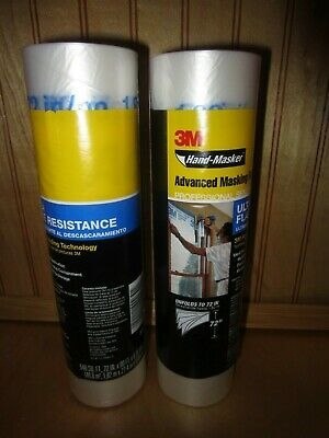 """Lot of 2, 3M Hand-Masker Advanced Film Masking Film Surface Protector,  72""""x90'"""