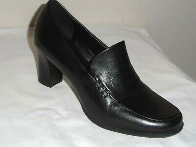 277900e788 Franco Sarto Nolan Womens Black Stacked Heel Loafer Shoe - Size 4.5M