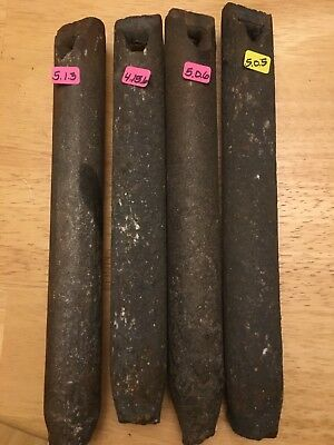 4 Vintage Cast Iron window sash weights 5 Lbs ea from 1920s Salvage