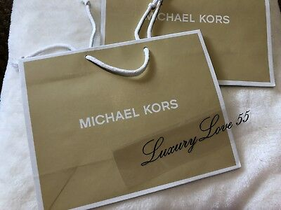 8ab724871998 New Lot of 2 Auth Michael Kors MK Small Shopping Holiday Paper Bags Fast  Ship