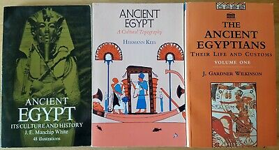 Ancient Egypt/ Egyptian History Softcover Book Lot- Archaeology/ Bible/ Religion