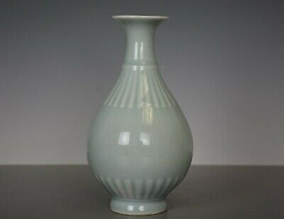Rare Antique Chinese Celadon Porcelain Vase Marked Kangxi Rare Cc1827