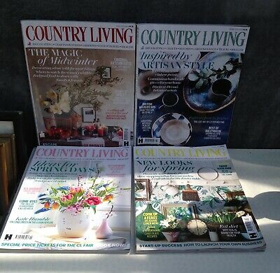 Country Living magazine 4 second hand copies from 2019